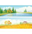 Autumn landscape banners vector image
