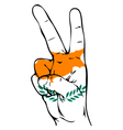 Peace Sign of the Cypriot flag vector image vector image