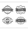 Set of wedding invitation vector image