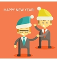 Partners in Business congratulate each other on vector image