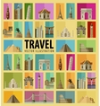 Travel Set of elements - Italy USA America New vector image
