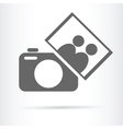 people photo camera icon vector image