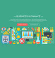 business and finance flat icons concept business vector image