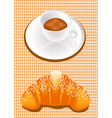 coffee and croissants vector image