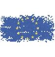 European Union grunge tile flag vector image