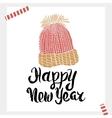 Happy New Year - Holiday unique handwritten vector image