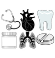 Healthcare related icons vector image