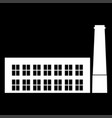 industrial building factory the white color icon vector image