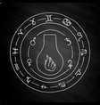 masonic vial emblem icon logo on chalkboard vector image