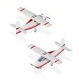 Airplane Mini Isometric View vector image