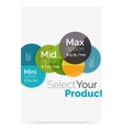 Option select infographic banner vector image vector image