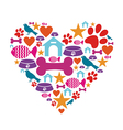 Love for pets vector image vector image