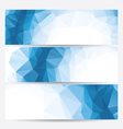 set of abstract geometric banners vector image
