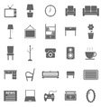 Living room icons on white background vector image