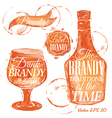 Watercolor Brandy vector image