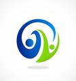 partner round swirl abstract logo vector image