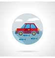 Flood disaster flat color design icon vector image