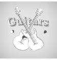 Acoustic and Bass Guitars vector image