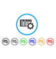 bar code settings rounded icon vector image