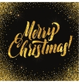 Christmas card Gold sparkles on black background vector image