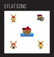 flat icon alternative set of ecology turbine vector image