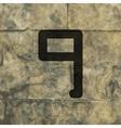number Nine icon symbol Flat modern web design vector image