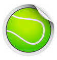 round sticker with tennis ball vector image