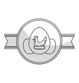 seal stamp of chicken eggs vector image