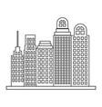 sketch contour closeup city landscape with vector image
