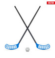 symbol of ball and sticks for floorball vector image