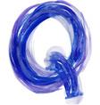 Watercolor Font LETTER Q vector image