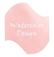 Watercolor peach color vector image