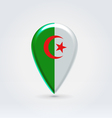 Algerian point icon for map vector image