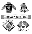 Set drawings knitted woolen clothing and footwear vector image