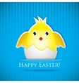 Easter card with chicken that hatched from egg vector image