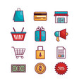 commercial business flat icons vector image