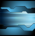 blue tech perforated carbon background vector image