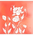 Abstract poppies vector image