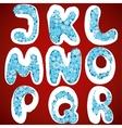 Christmas snowflakes alphabet vector image vector image