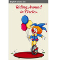 Riding in circles vector image