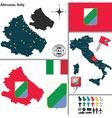 Map of Abruzzo vector image vector image
