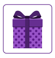 Colorful wrapped gift box icon lilac vector image vector image