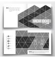 Set of square design brochure template Microchip vector image