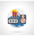 Cinema popcorn color detailed icon vector image