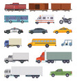 automobile trucks and vector image