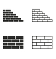 Brick wall icon set vector image
