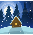 Cabin in the woods vector image