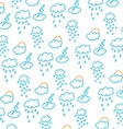 clouds snow rain sun and storms vector image
