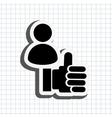 hand like design vector image