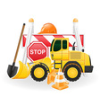 road works concept icons vector image